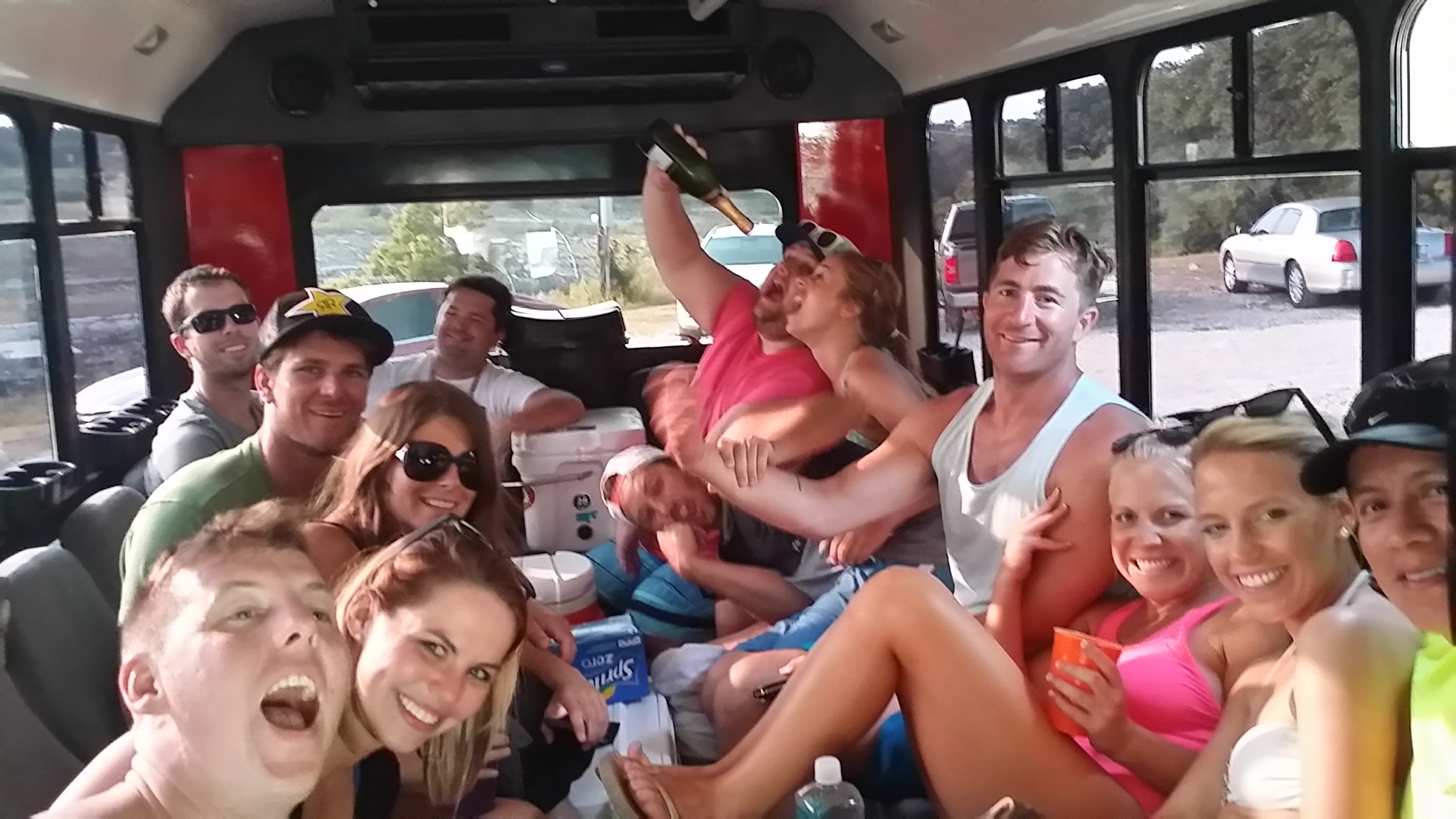 Austin Party Shuttle goes to Aquaholics