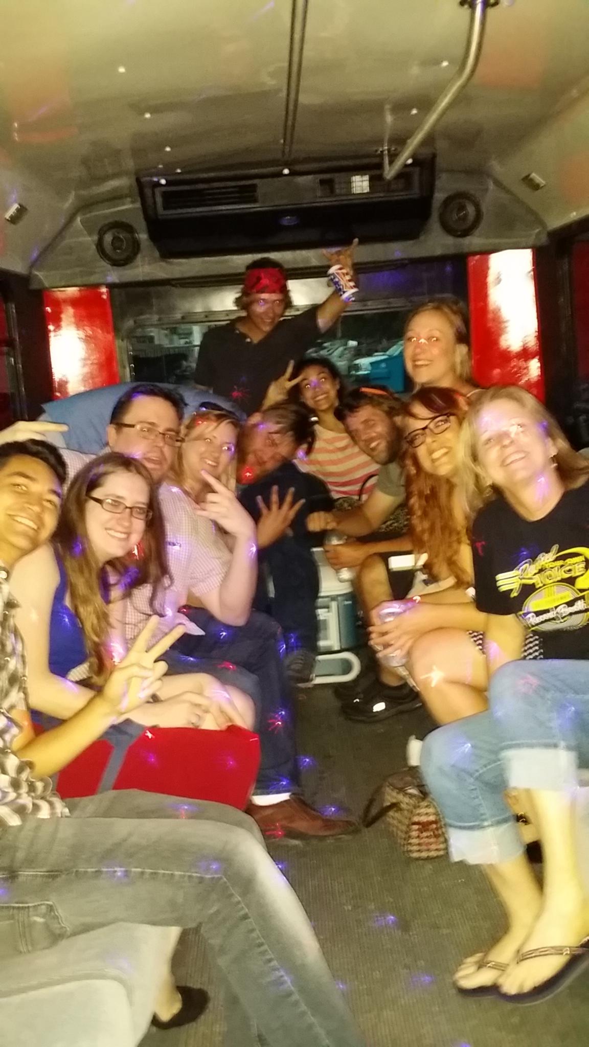 Jenny's Birthday Party Aboard Austin Party Shuttle